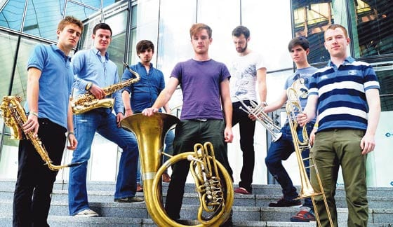 Young brass band's unique sound rubs off on famous fans