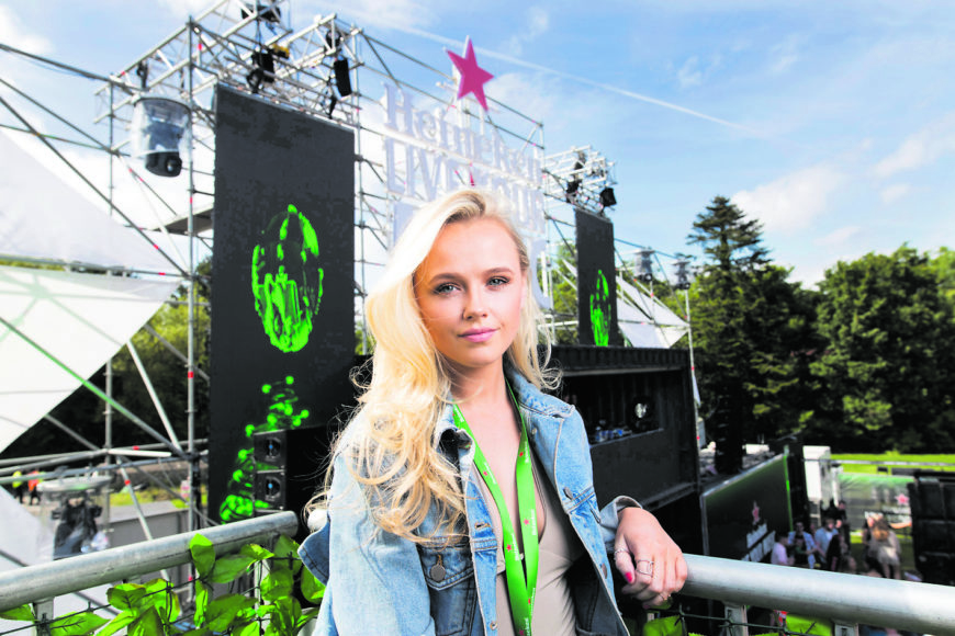 Savannah O'Reilly pictured at the Heineken 'Live Your Music' area a