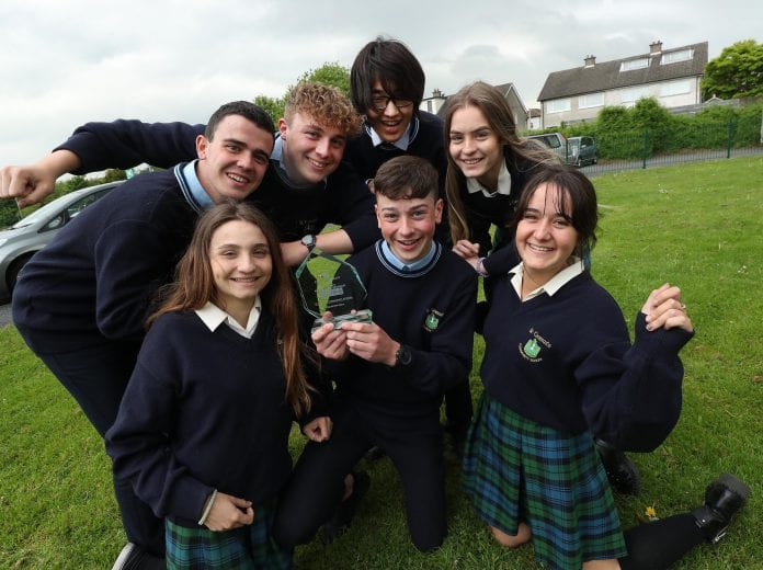 St Tiernan's TY team leaders from Cuchulainn Heart Challenge. Photo by: Robbie Reynolds