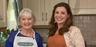 Cabinteely's Liz Valoor and with chef Catherine Fulvio cooking up a storm