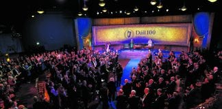 A celebration of the Centenary of the first meeting of Dail Eireann, held at the Round Room of the Mansion House.